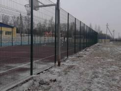 Установка ограждения для спортивной площадки Долматово