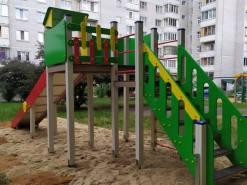 Установка детской горки «Зимняя» в Орловской области