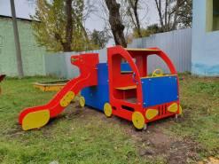 Монтаж детского оборудования в Щекинском детском доме